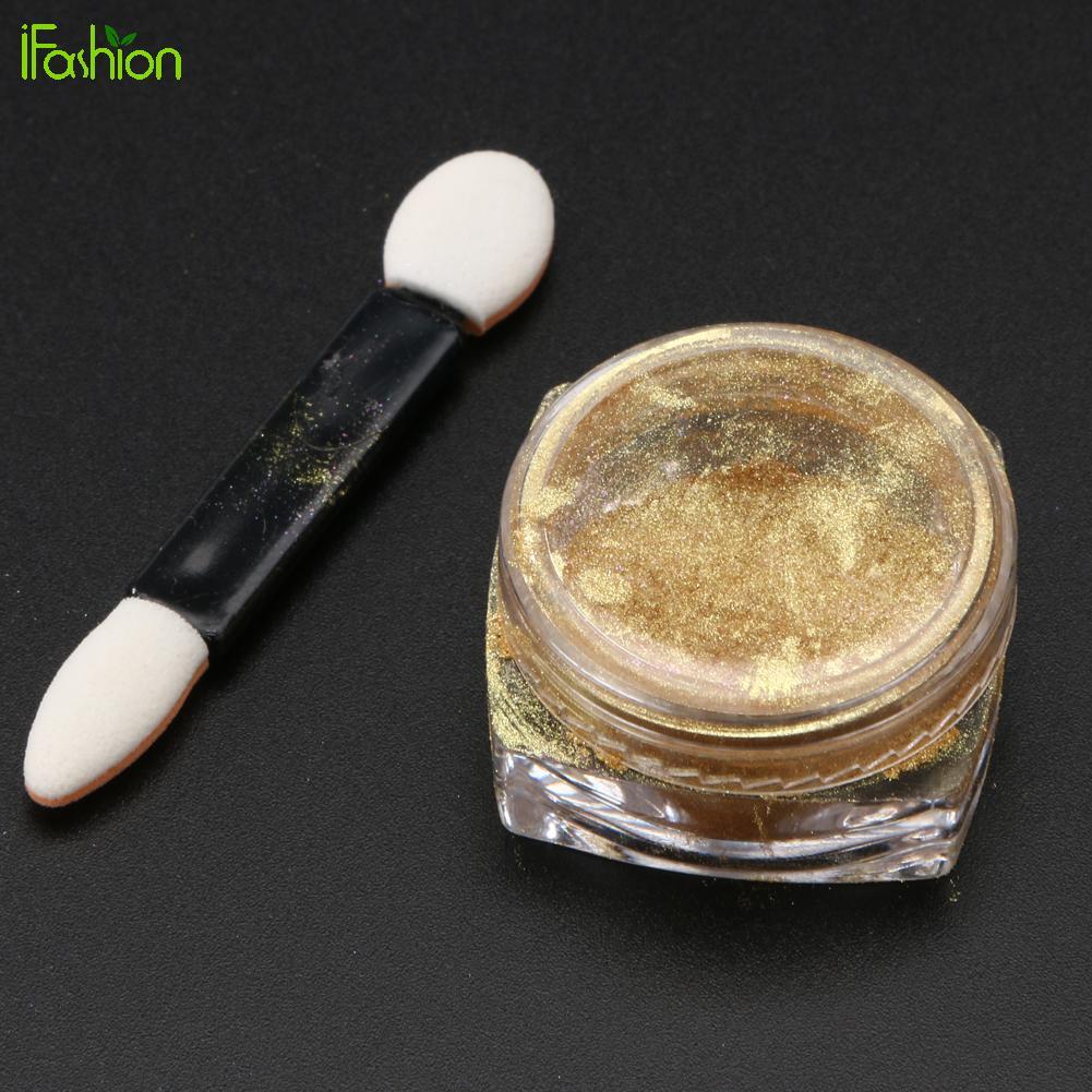 nails dip powder 6 colors Mirror Powder Gold Silver Pigment Glitter ...