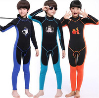 MYLEGEND Children's 2mm Tight zipper One Pieces Warm Neoprene Wetsuits Kids Diving Suits Long Sleeves Boys Girls Surfing Rash G