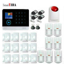 SmartYIBA Wireless WIFI 3G WCDMA Home Alarm System Operated by IOS/Android App Control Russian Dutch French Spanish Voice