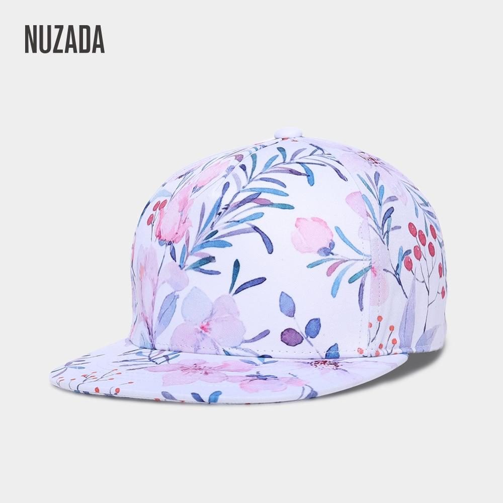 Brand NUZADA 3D Printing Caps Hats Spring Summer Small Fresh Flowers Women Baseball Cap Bone Cotton Adjustable  Snapback