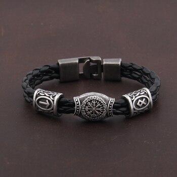 Nordic Amulet Runic Runes Viking Bracelet Valknut Bracelet  Viking Bracelet