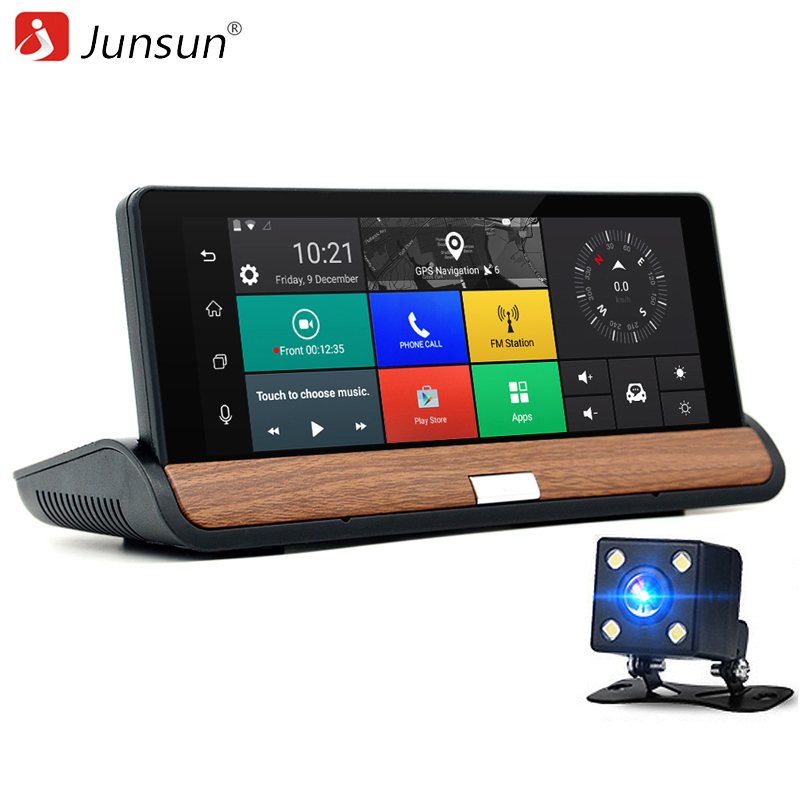 junsun 3g 7 inch car gps navigation bluetooth android 5 0 navigators automobile with dvr fhd