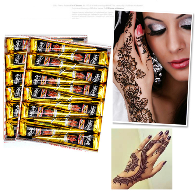 Aliexpress Com Buy Henna Tattoo Paste Cone Wedding Henna Drawing