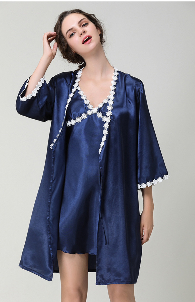 Women's Sleepwear Robes Gown Sets Silk Satin Night Dress Plus Size Nightwear Everyday Bridal Bridesmaid Robe Hot New 2018