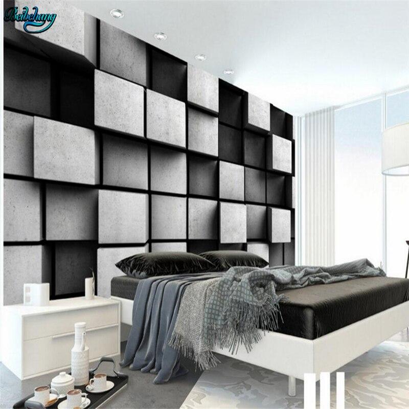 Beibehang Custom Wallpaper Home Decor Living Room Bedroom: Beibehang Large Custom Wallpaper Cube 3D Stereo TV