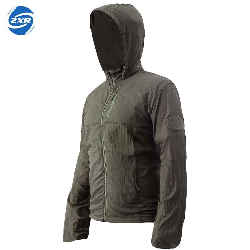 Unisexe Camouflage manteau exercice imperméable coupe-vent tactique veste Protection solaire cyclisme course activités de plein air capuche