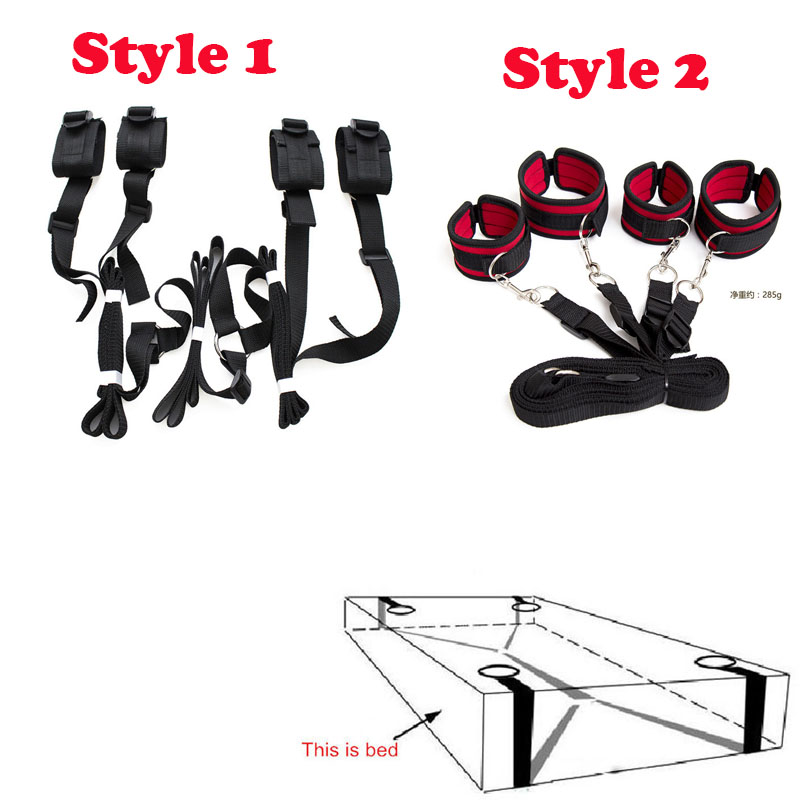 Adult Games Sex Toys For Couples,Under Bed Restraint Erotic Toys Bondage Restraints Handcuff & Ankle Cuffs Bed BDSM Love Sex Kit adult games nylon sexy bondage bdsm toys flirt erotic toys role play body restraint bondage sex products sex toys for couples