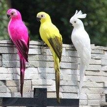 25 см пена перо попугай украшения сада имитация попугая декоративные птицы Садовые принадлежности фонтаны птицы ванны