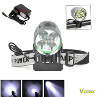 VICMAX 8000LM Headlight/Bicycle Light Set 5x XM-L T6 LED Cycling Headlamp Lantern Bike Lamp Light+ Battery+Charger+Headband