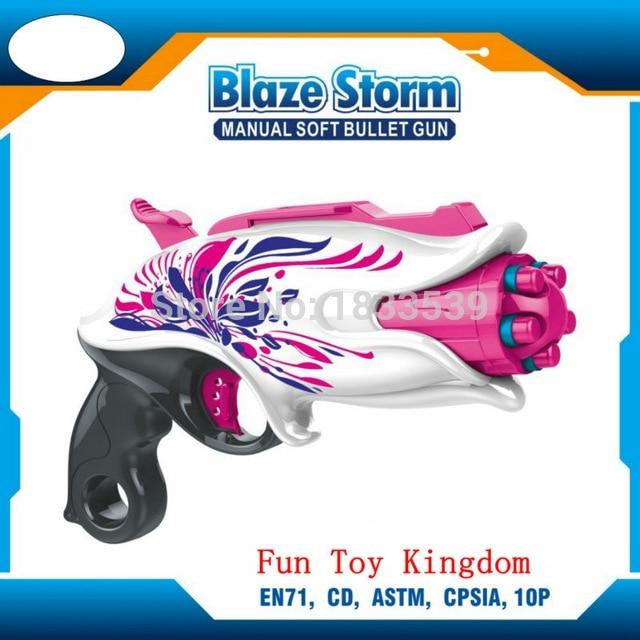 Soft Bullet Plastic Pink Angel Girls Gun Toys Outdoor Nerf Rebelle Pink  Crush Blaster Sweet Revenge