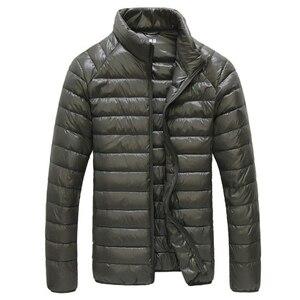 Image 2 - Chaqueta de plumas de pato blanco para hombre, Parkas portátiles ultraligeras, abrigo informal cálido a prueba de viento, prendas de vestir, 5XL, 6XL, 2020