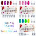 Elite99 Any4pcs UV Gel Nail Polish + Top Coat + Base Coat For Nail Gel Kits To Build Long Lasting Nail Gel Polish 8ml