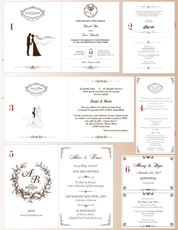 bowknot convite de casamento cartão de noivado