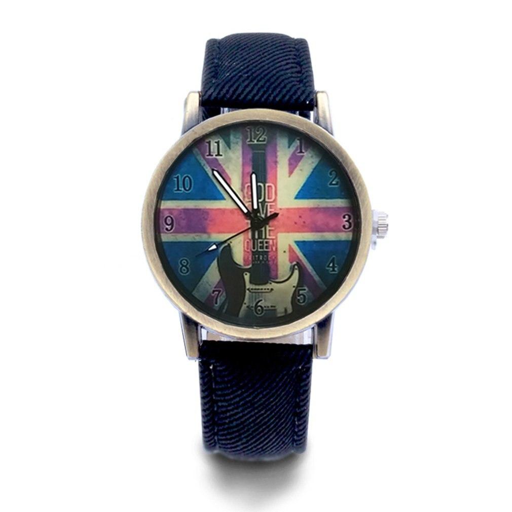 M Word Flag British Flag Guitar Universal Watch Fashion Quartz Watches