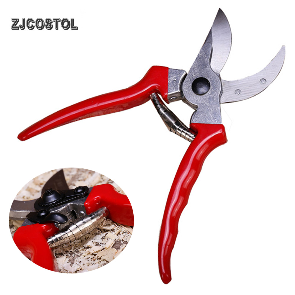 ZJCOSTOL Garden Scissors Tool Pruner Tree Cutter Gardening Pruning Shear Scissor Stainless Steel Cutting Anti-slip