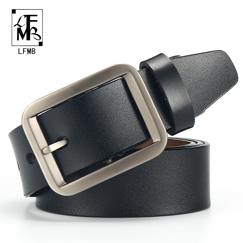 [LFMB]male Genuine Leather Strap Belts For Men  Leather Belt Man Brand Strap Male Pin Buckle Fancy Vintage Cowboy Jeans