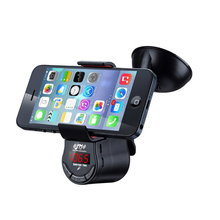Universal Car Smart Phone Holder with Charging Bluetooth Handsfree Fm Transmitter MP3 GPS Mobile