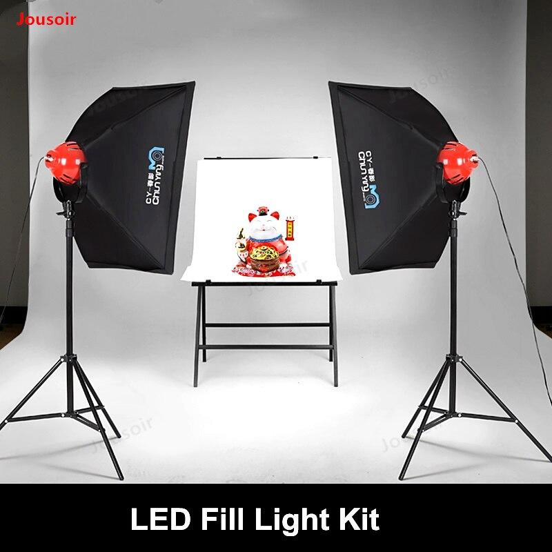 Rouge Head Light Kit LED Photographie Lampe Remplir Lumière ensemble Softbox intérieur lumière Continue Encore Vie Portrait tir CD50 T11