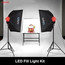 Zestaw oświetleniowy LED z czerwoną głową lampa fotograficzna z wypełnieniem światła zestaw Softbox indoor ciągłe światło martwa natura portret strzelanie CD50 T11