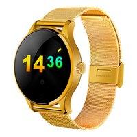 الأصلي K88H الساعات الذكية 1.22 بوصة شاشة ips جولة MTK2502C دعم القلب رصد معدل بلوتوث smartwatch ل ios الروبوت