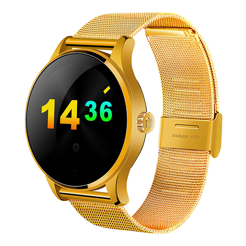 Original K88H Smart Watch 1.22 Inch IPS Round Screen MTK2502C Support Heart Rate Monitor Bluetooth SmartWatch For IOS Android fashion gw01 smart watch bluetooth 4 0 smartwatch heart rate monitor for android 4 3 ios 7 ips round screen life water resistant
