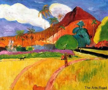 New Arrivals Hand-painted Landscape Art Painting Tahitian Mountains, 1893 by Paul Gauguin Home Decor Art