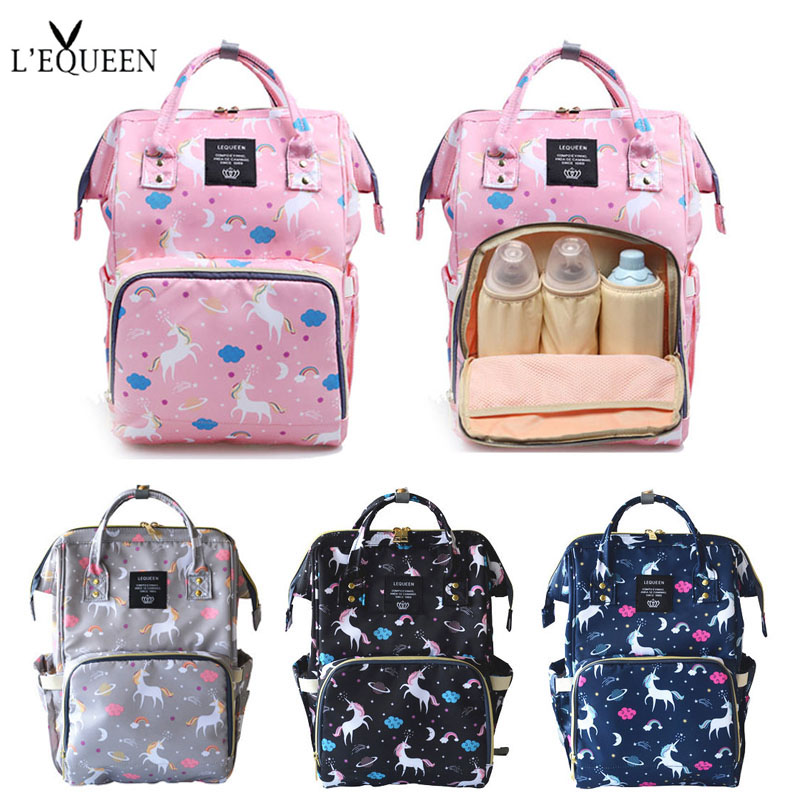 7fc77732aa10 New Unicorn Baby Bag Travel Backpack Large Capacity Nursing Bag for Baby Mom  Backpack Women Carry Care Bags