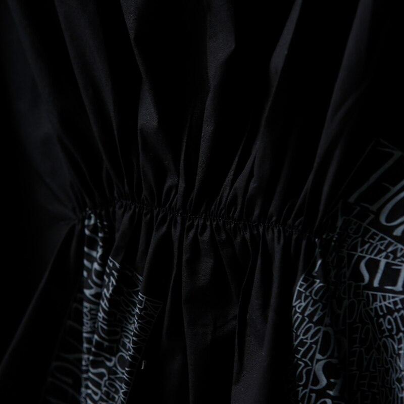 Q9170 芸術大サイズ印刷プリーツ純粋な綿のシャツドレス  グループ上の レディース衣服 からの ドレス の中 3