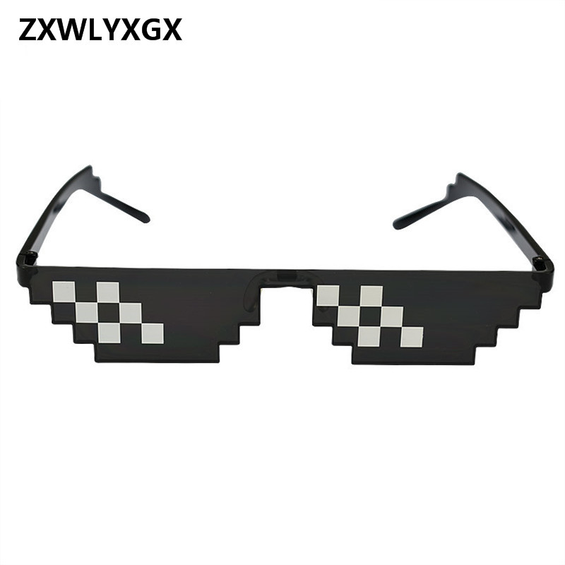 ZXWLYXGX Glasses 8 Bit MLG Pixelated Sunglasses Men Women Brand Thug Life Party Eyeglasses Mosaic Vintage Eyewear-in Sunglasses from Men's Clothing & Accessories on Aliexpress.com | Alibaba Group
