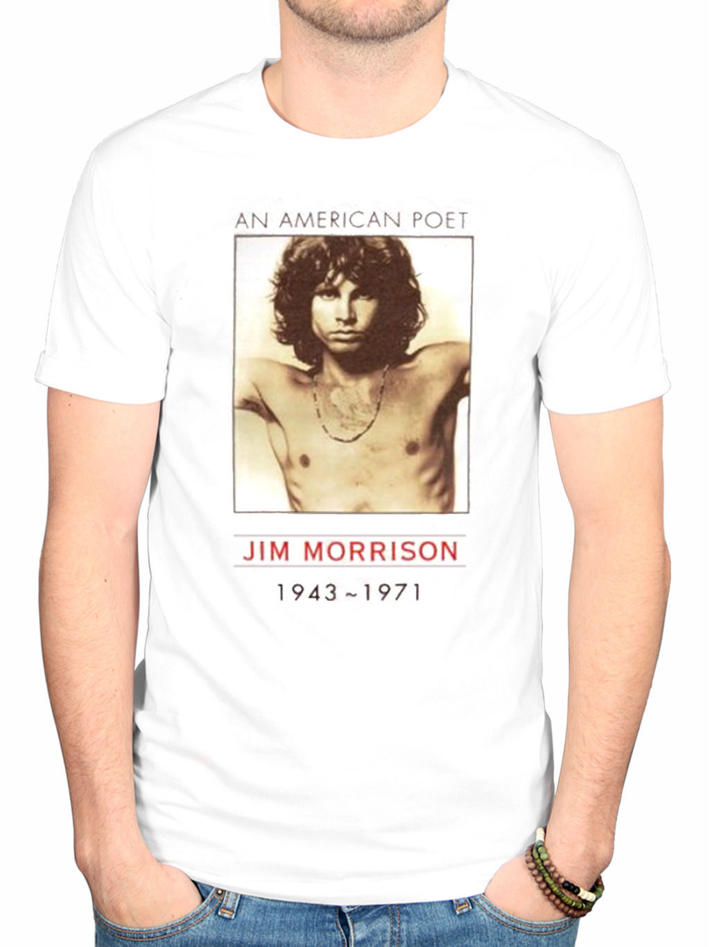 The Doors American Poet T-Shirt Band Merch Jim Morrison R.I.P Vintage