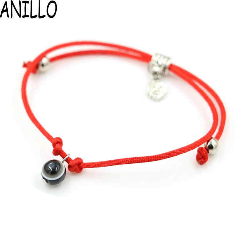 ANILLO 赤のスレッド String ロープラインウィービングチェーンブレスレットとビーズから手なくてはならない女性ギフト