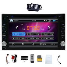 Upgarde Version With Camera ! 6.2″ Double DIN Car DVD CD Video Player Bluetooth In Dash GPS Navigation Car Stereo Radio Digital