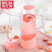 1380ml Glass Pitcher with Lid Fruit Infusion Ice Tea Jug Hot Cold Water Borosilicate Glass jug Heat Resistant glass jar BPA free