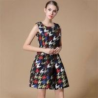 2015 Autumn New Womenswear Hit Thousands Of Birds In Europe And America Sleeveless Slim Slim Dress