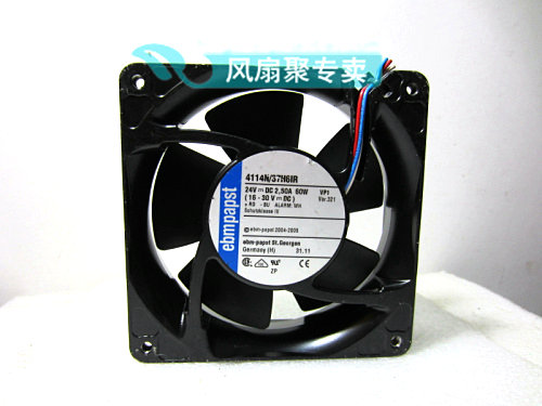 Original German ebmpapst 12cm 12038 4114N/37H6IR 24V 60W Cooling fan original typ4112n 31hha 12038 forced air cooling fan