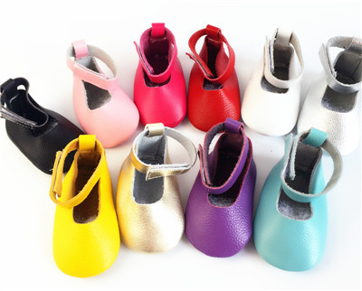 100pairs/lot  Handmade Genuine Leather Solid Toddler Baby Moccasins Girls Kids Ballet Shoes First Walker Toddler Soft Sole Shoe