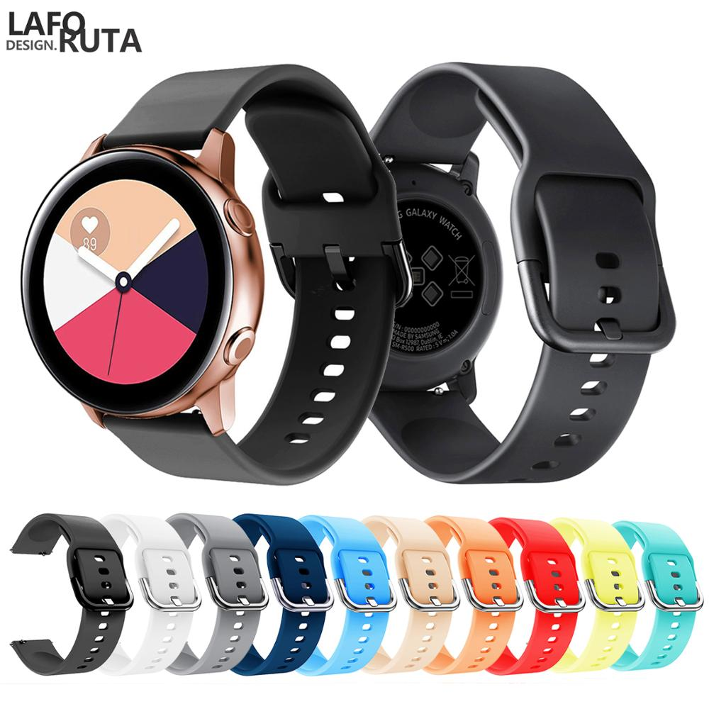 Laforuta Sport Silicone Watch Band For Samsung Galaxy Watch Active Strap 20mm Quick Release Watchband Galaxy 42mm/S2 2019 New