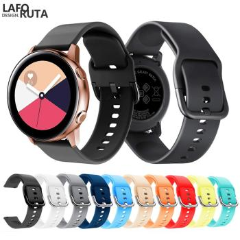 Laforuta Sport Silicone Watch Band for Samsung Galaxy Watch Active Strap 20mm Quick Release Watchband Galaxy 42mm/S2 2019 New laforuta nylon band for samsung galaxy watch active band galaxy 42mm strap classic s2 sport 20mm quick release watch band