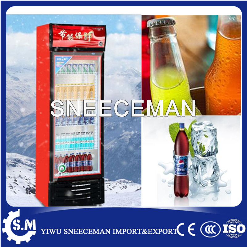 Refrigerated Vertical Beverage Drink Display Cabinet