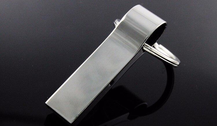 New arrival USB Flash Drive Pendrive 16GB 32GB 64GB 128GB Memory Stick USB Stick Pen Drive Waterproof Metal Key Ring U Disk