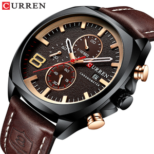 Image 1 - Męskie zegarki Top marka CURREN luksusowy skórzany pasek Sport kwarcowy z chronografem zegarek wojskowy mężczyźni zegar wodoodporny Relogio Masculino