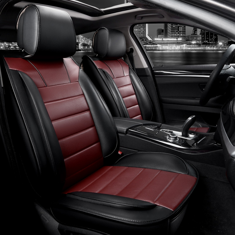 New pu leather seat cover universal for BMW e30 e34 e36 e39 e46 e60 e90 f10 f30 x3 x5 x6 automobiles car accessories seat cover four seasons leather car interior pad front back seat cushion cover for bmw e36 e38 e39 e46 e52 e53 e60 e61 e63 e90 f30 f10
