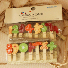 14 Pcs / Set With Wooden Rope Wood Home Decor Clip Propose Marriage Cute Letters Party Married Photo