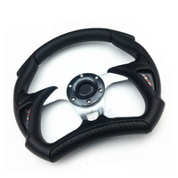 Universal 320mm PU PVC Leather Racing Sports Auto Car Steering Wheel With Horn Button 12 5