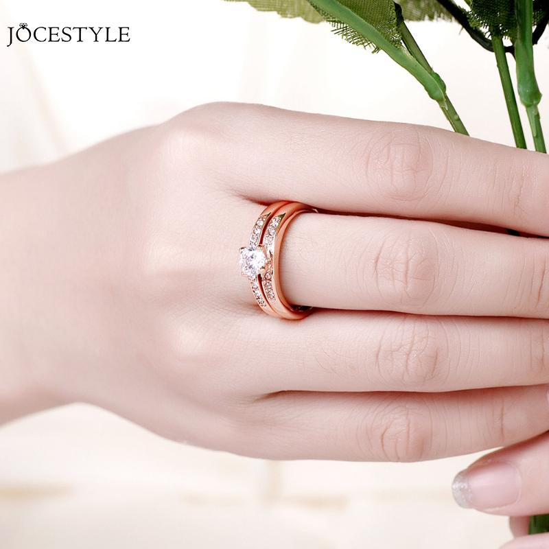 Czech Drilling Ring Gold Sliver Plated Alliance mariage couple Ring Jewerly Wedding Couple Rings Lesibian Women Accessories