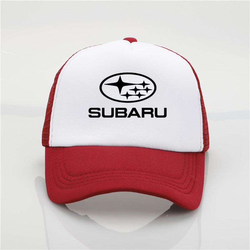 fashion Subaru F1 printing net cap baseball cap Men and women Summer Trend Cap New Youth Joker sun hat Beach Visor hat