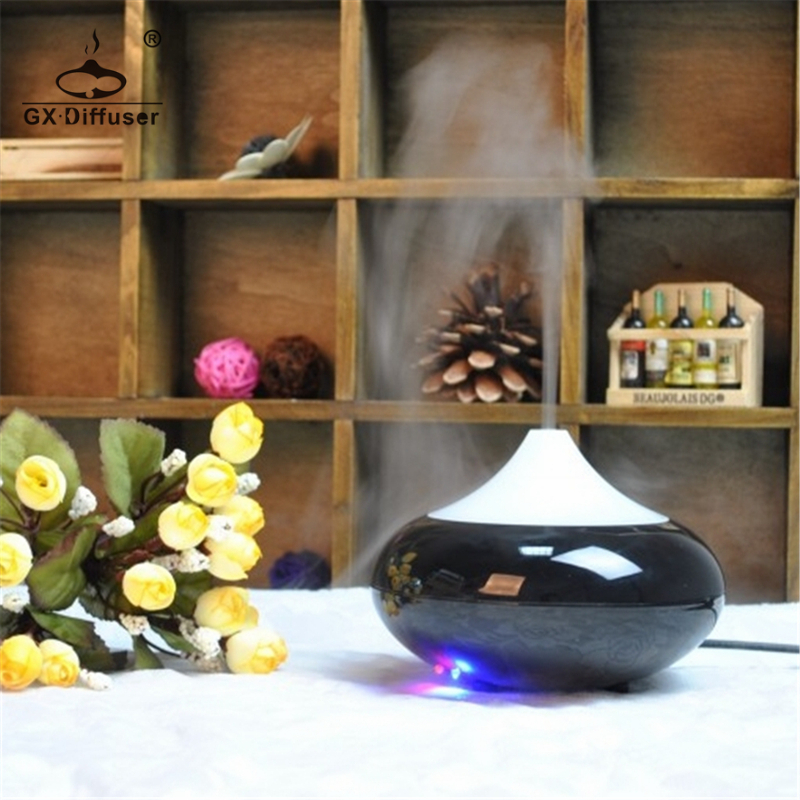 GX.Diffuser LED Ultrasonic Humidifier Aromatherapy Aroma Essential Oil Diffuser Air Humidifier Mist Maker Home Office Appliances
