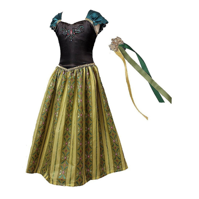 Girls Anna Elsa Princess Dress