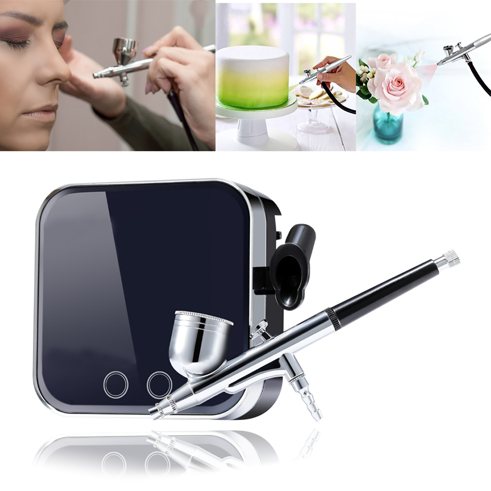Newest Professional Airbrush Makeup Kit With Compressor Spary Gun 0.3mm Aerograph Face Skin Facial Decorating Tool