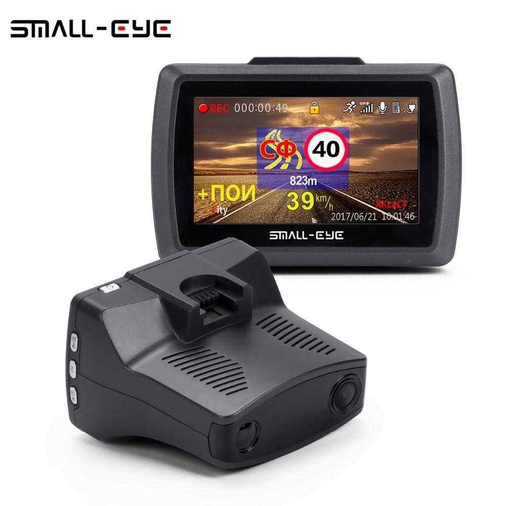 SMALL-EYE 3 IN 1 Car DVR Camera Radar Detector Gps Ambarella A7 LDWS FULL HD 2K Video Recorder Registrar Dash cam 170 Degree цена